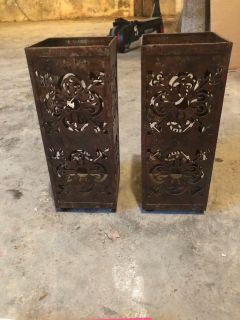 Metal decorative candle holders
