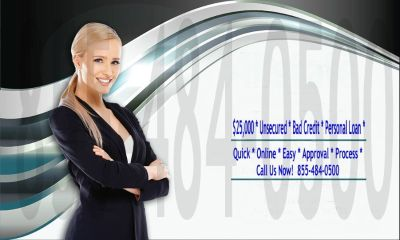 $25,000 Online* Bad Credit Personal Loan * Since 1998