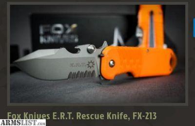 For Sale/Trade: FOX FKMD E.R T. Rescue Knife FX!