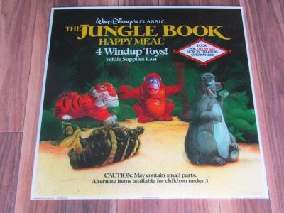 The Jungle Book McDonald's Happy Meal Toy Display Sign