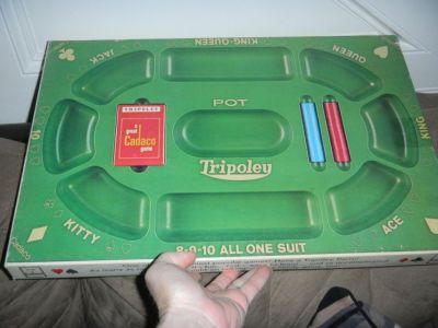 Vintage 1968 TRIPOLEY Cadaco Michigan Rummy Hearts & Poker Card Game