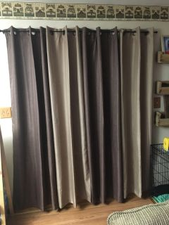 4 panels of curtains 84 inches length