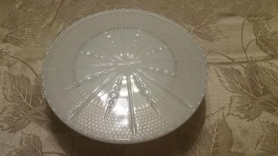 Raised Glass Serving Plate
