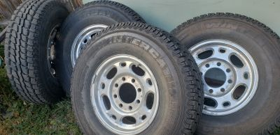 Studded tires.