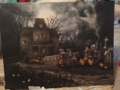 Light up Halloween large picture nwt
