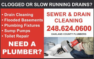 Clogged Sewer & Drain Cleaning MI Drain Cleaning Walled Lake Plumber