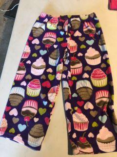 Cupcake fleece sleep pants - 4t