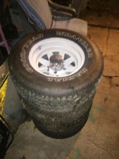 4 tires and wheels 235/75/15