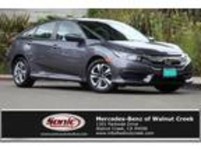 Used 2016 Honda Civic Sedan Gray, 58.7K miles