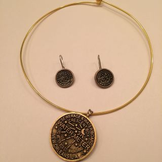 Water meter necklace and earring set