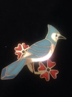 Abalone bird brooch