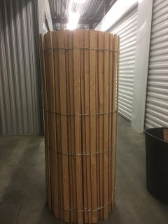 50ft Roll of Wood Slat and Wire Fencing cross posted