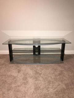 Glass TV stand/media console