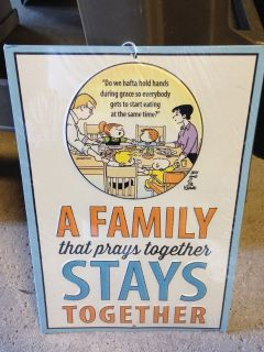 Family that Prays Together Metal Sign (NEW)