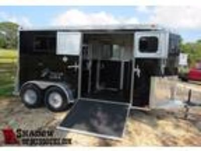 "2019 Trailers USA 2H Straight 85"" Stalls 2 horses"