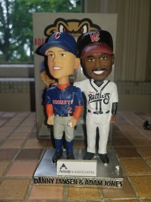 2019 Wisconsin Timber Rattlers SGA Bobblehead Danny Jansen and Adam Jones