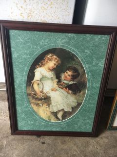 Victorian framed picture