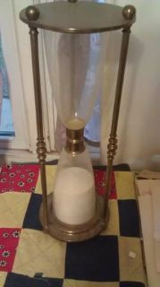2ft brass hour glass