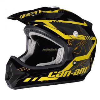 Purchase Can-Am X-1 Cross Mission Helmet - Yellow motorcycle in Sauk Centre, Minnesota, United States, for US $109.99