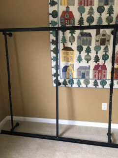 EUC queen bed frame. Used in guest room. Brand new condition. $20.