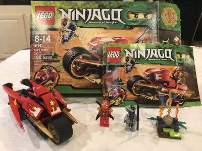 LEGO Ninjago Kai s Blade Cycle set 9441 - includes all pieces, minifigures, box and instruction book