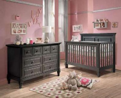 Designer Baby Nursery Furniture CRIB, DBL DRESSER & NIGHTSTAND (new)