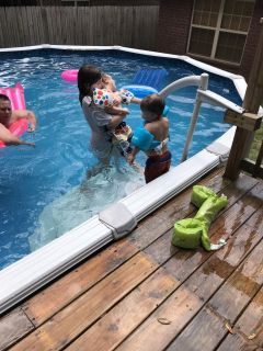 Above Ground 16 X 32 Pool (Pictures From 201 54 deep