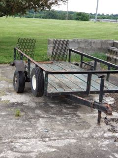 Utility trailer 4-FT X 8-FT with ramp