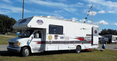 2000 ford E450 conversion toy hauler
