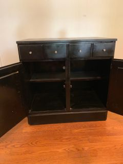Wonderful black TV stand/ storage unit