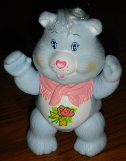 """Vintage 1984 Care Bears GRAMS Bear Pose-able Figure Toy 3.5"""""""