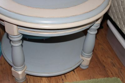 Solid Hand Painted oak side table