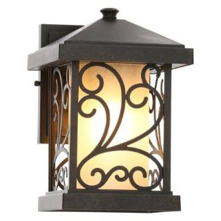 Cypress Collection 1-Light Forged Bronze Wall Lantern
