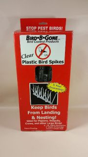 Bird B Gone 6 foot plastic spikes pest control pigeons crows ( 3 boxes )