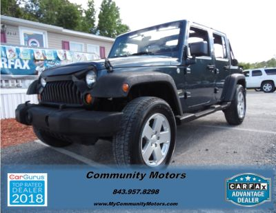 2007 Jeep Wrangler Unlimited Sahara (Blue,Dark)