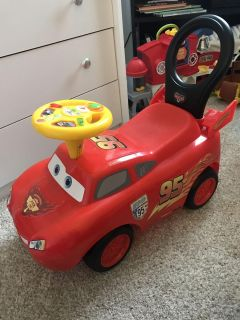 Excellent condition! Lightening McQueen Ride-On. Lights and sounds.