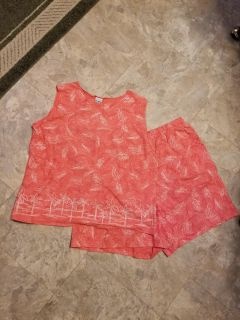 CUTE WOMEN'S SHORTS AND MATCHING TOP, LIKE NEW, TOP 1X & SHORTS ARE 2X