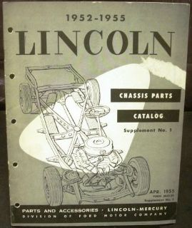 Find Original 1952-1955 Lincoln Chassis Parts Catalog Supplement Cosmopolitan Capri motorcycle in Holts Summit, Missouri, United States, for US $34.98
