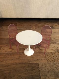 American girl doll sized table and chairs