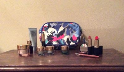 Est e Lauder Cosmetic Bag with Cosmetic samples
