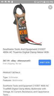 Southwire 21050T clamp metet
