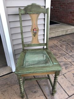 Vintage cane seat chair