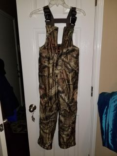 Youth small camo hunting coveralls