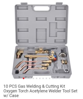 New 10 pcs welding and cutting kit oxygen acetylene