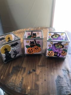 3 votive candle holders