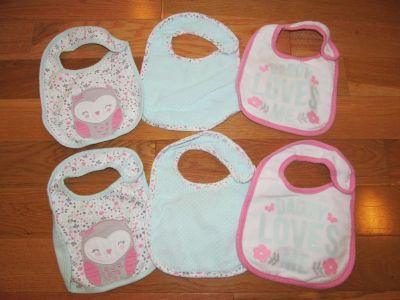 2 sets of pink and teal bibs *Price is for all