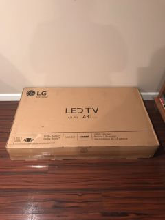 LG Led 43 in tv. Brand new in box. Never used.