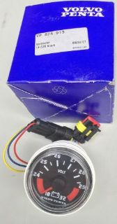 Purchase VOLVO PENTA Voltmeter Part # 874913 Brand New In Box with instructions OEM motorcycle in Santa Ana, California, United States, for US $80.00