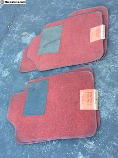 NOS Porsche ZVW floor mats