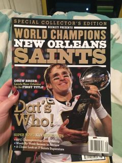 3 special edition saints world championship magazines